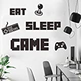 Game Room Wall Stickers Murals Gamer Wall Decals Poster for Children Boys Kids Men Video Game Room Decor Playroom Bedroom Decoration