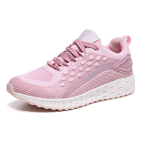 Running Shoes Running Shoes Sports Trainers Shock Absorbing Sneakers for Walking Gym Jogging Fitness Athletic Casual Outdoor Breathable, Casual Walking Sneakers,4.5 UK, Pink