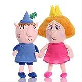 N\A 2pcs / Set 30cm Ben Y Holly Plush Toys Cute Soft Dolls para Niños Regalo De Cumpleaños
