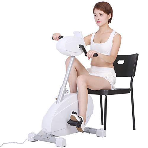 Ejercitador de pedales, Bicicleta de ejercicios de rehabilitación eléctrica motorizada, Bicicleta de ejercicios para manos, brazos, rodillas y piernas, Mini equipo de rehabilitación de ciclismo