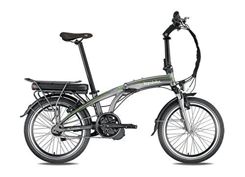 BIZOBIKE Bicicletta elettrica Pieghevole A-Class Grigio/Verde–Batteria: Li-Ion Panasonic 36V, 14,5Ah–autonomia: 140km–Peso: 21,4kg su Amazon