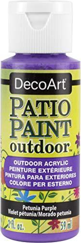 DecoArt Peinture acrylique d'extérieur, acrylique, violet pétunia, 59 ml