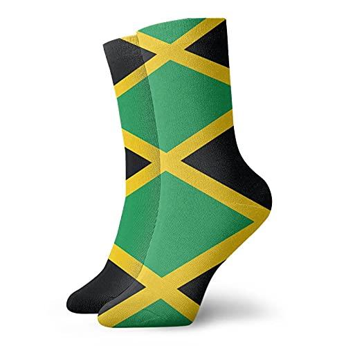 Jamaican Flag Socks Dress Socks for Men & Women Warm Winter Stocking Christmas Gifts, Funny Novelty Casual Colorful Athletic Crew Socks