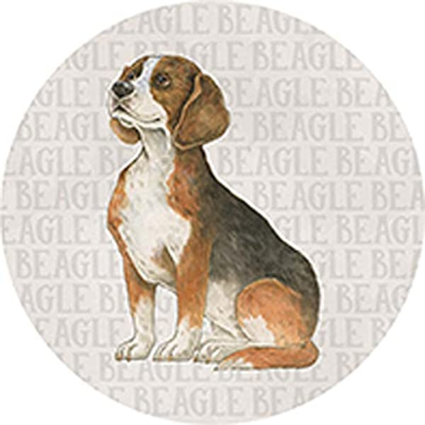 CAR COASTER Single 1 Absorbent Stone Coasters For Cup Holders BEAGLE