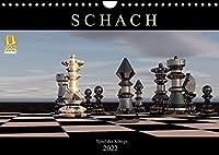 SCHACH - Spiel der Koenige (Wandkalender 2022 DIN A4 quer): Fantastische Bilder aus der Welt des Schachs (Monatskalender, 14 Seiten )