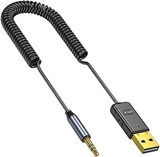FLAMEER Bluetooth Adapter 10M Transmissie Afstand, 3.5mm Jack Bluetooth Ontvanger Luidspreker, Past voor Car Home Plug en ...