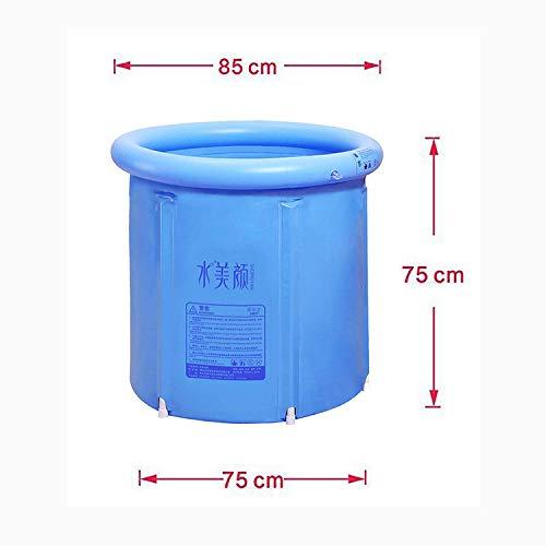 JoySee Heavy Duty Adult Size Folding Bathtub Portable Plastic Bathtub Blue