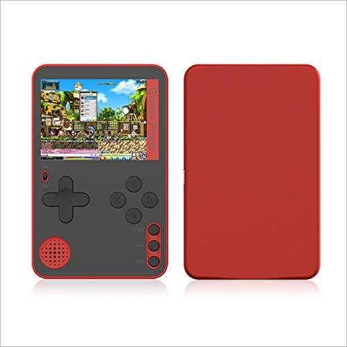 Jogo K10 pequeno jogo portátil mini cartão FC nostálgico jogo de bolso (Vermelho)