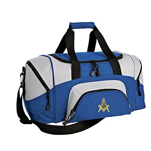 Mason/Freemasons Colorblock Duffel Bag Royal/Grey