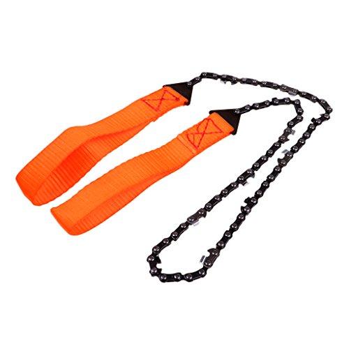 MagiDeal Ultraleicht Handkettensäge Überleben Kettensäge Hand Motorsäge Gürteltasche Notfall Werkzeug - Orange