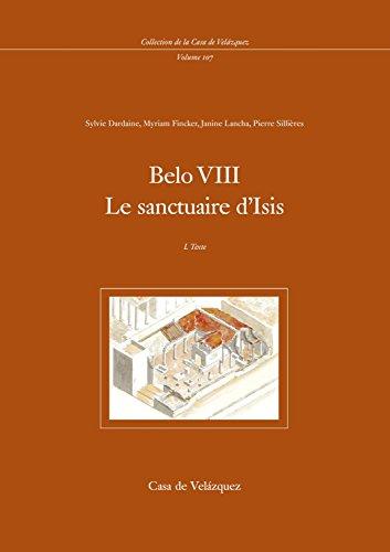 Belo VIII: Le sanctuaire d'Isis: 107 (Collection de la Casa
