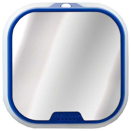 Five Star Locker Accessories, Locker Mirror and Locker Light, 4-1/2 x 4-1/2, Blue (73589)