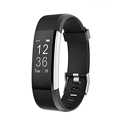 LETSCOM Fitness Tracker HR, Activity Tracker Watch with Heart Rate Monitor, Waterproof Smart Bracelet with Step Counter, Calorie Counter, Pedometer Watch for Women and Men