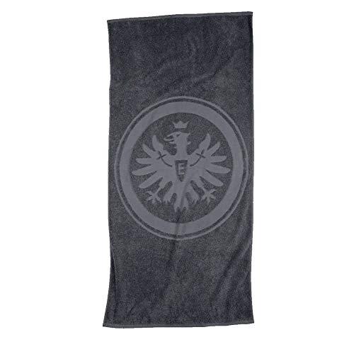 Eintracht Frankfurt Duschtuch - Relief grau - Handtuch, Badetuch 70 x 140 cm Strandtuch SGE - Plus Lesezeichen I Love Frankfurt
