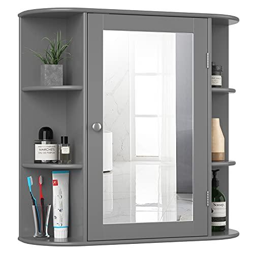 Tangkula Bathroom Medicine Cabinet with Mirror