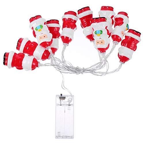 TOYANDONA Luci della Stringa della Santa di Natale 10 LED a Batteria Luci della Lampada della Stringa di Forma della Santa per La Decorazione di Capodanno della Festa di Natale All'aperto