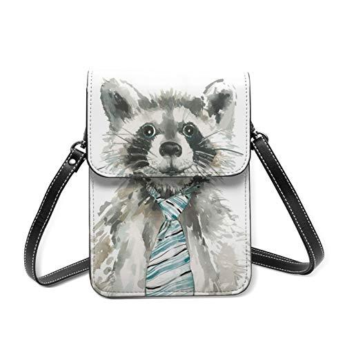 Crossbody Bag Lindo Critter A Raccoon Small Cross Body Shoulder Bag Outdoor Trave Bolsas de teléfono celular bolsa de monedero