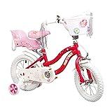 COEWSKE Kid's Bike Telaio in Acciaio per Bambini Bicicletta Little Princess Style 12-18 Po...