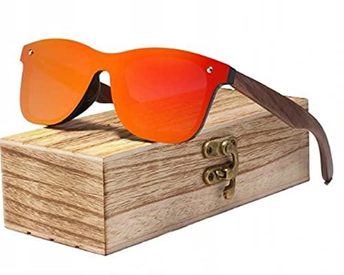 KINGSEVEN Sonnenbrillen Herren Damen Polarisierte Sonnenbrille, Unisex Holz Bambus Sonnenbrille, UV400