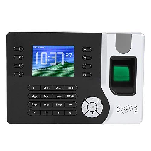 ASHATA 2,4-Zoll-LED-Bildschirm Intelligente biometrische Fingerabdruck-Passwort-Anwesenheit, RFID-Kartengerät des Mitarbeiter-Check-Recorders Mit Stechuhr, zur Zeiterfassung und Zugangskontrolle