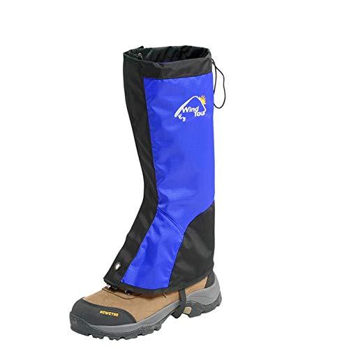 WWWANG Schneegamaschen wasserdicht staubdichte Bein Gaiters beweglicher Beinschutz Protect Anti-Riss-Breathable Stiefel Guardian - Blau - 38x35x42cm / 40x38x43cm (Size : 40X38X43CM)