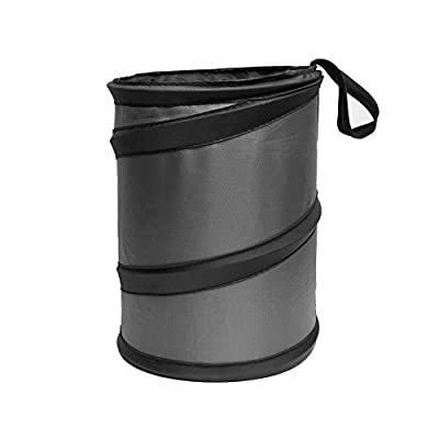 FH Group FH1121BLACK Black Car Garbage Trash Can