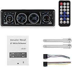 Car Radios - Car Radio 1 Din 12V Bluetooth Car Stereo LCD Display Autoradio FM Aux Input Receiver USB MP3 60W X 4 High Power Output EQ (Black)
