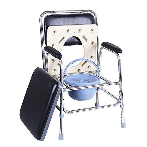 GAXQFEI Tragbarer Camping-Wc-Sessel-Wc-Sattern-Commode Einstellbar Höhenkomfort Commode Leichte Faltbare Outdoor-Porta-Töpfchen Für Erwachsene