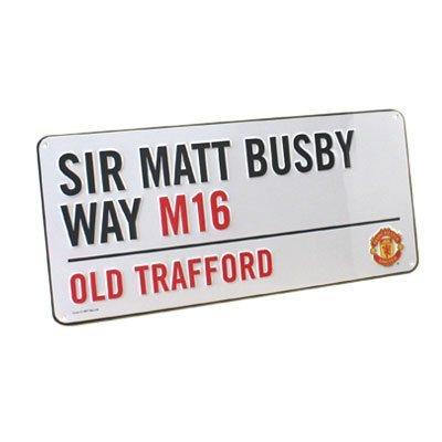 New Official Football Team Metal Street Sign (Man Utd FC)