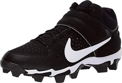 Nike Men's Alpha Huarache Varsity Keystone Mid Molded Baseball Cleat Black/White Size 9.5 M US