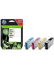 HP 364 Inktcartridge Zwart, Cyaan, Geel, Magenta, 3 kleuren en zwart 4-Pack (Standaard Capaciteit) (N9J73AE) origineel van HP