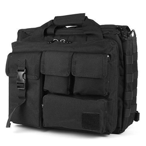 TongCart Militärarmee-Jagd-taktische Laptop-Taschen im Freien wasserdichte Nylon-tragbarer Schulter-Beutel-Männer Freizeit-Umhängetasche (Black)
