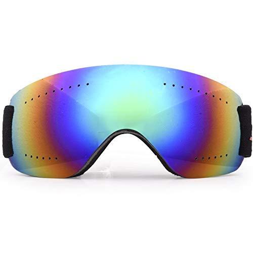 LAMZH Gafas de esquí de Moda de Gafas de Sol - sobre Gafas de esquí/Snowboard/montañismo Gafas para Hombres, Mujeres jóvenes - 100% UV Proteccion (Color : Green)