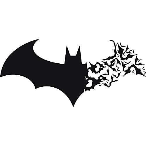 Halloween Batman - Adhesivos de pared de vinilo para pared, diseño de pared, color negro, 57 x 27 cm