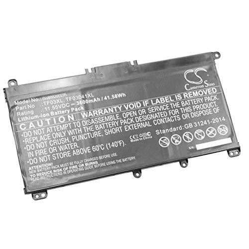 vhbw Akku Ersatz für HP HT03XL für Notebook (3600mAh, 11.55V, Li-Ion)