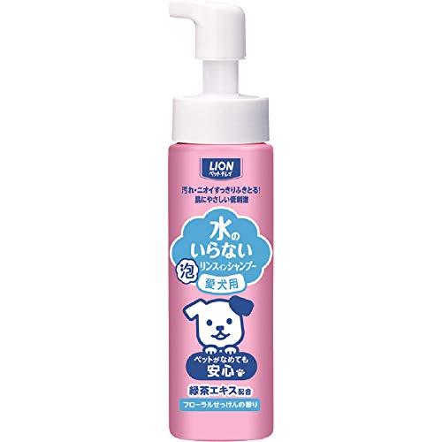 ライオン (LION) ペットキレイ 水のいらない リンスインシャンプー フローラルせっけんの香り 愛犬用 200ml