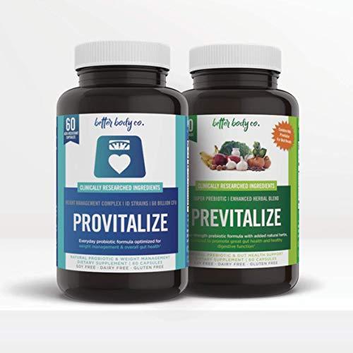 Slim Gut Bundle | Provitalize & Previtalize Bundle - Natural Menopoause Probiotic and Prebiotic