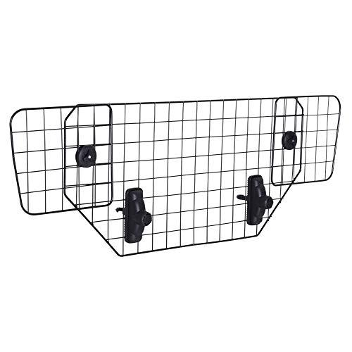 Pawhut Hundeschutzgitter Auto Universal Kofferraumgitter verstellbar Trenngitter Metall schwarz (89-122) x 41 cm