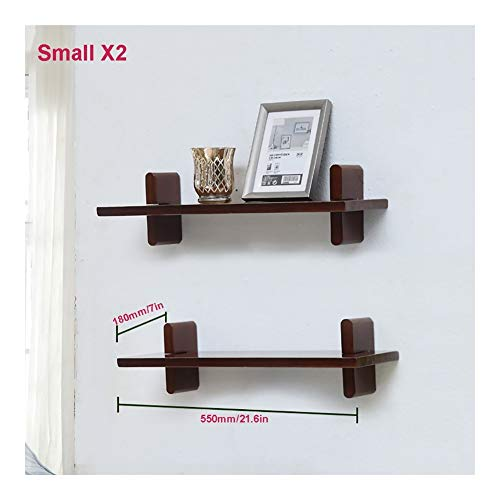 Shelf Wall, Planken Partition, Planken Opknoping in de woonkamer, Creative Simple Houten Plank, decoratieve boekenplank in de slaapkamer (Size : S*2)