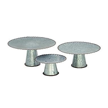 Deco 79 49192 Metal Galva Cake Stands (Set of 3), 9 /13 /15