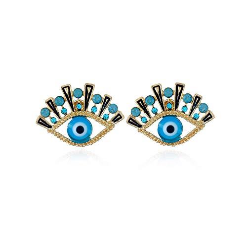 All Seeing Eyes Gold Stud Earrings