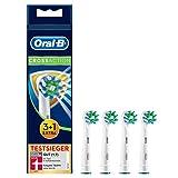 Oral-B CrossAction Aufsteckbürsten mit Bakterienschutz, Verhindert bakterielles Wachstum auf den Borsten, 3+1 Stück