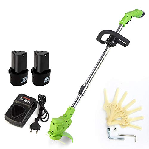 Great Price! Rong Cordless Grass Trimmer Lawn Grass Trimmer Electric Adjustable Handle Garden Grass ...