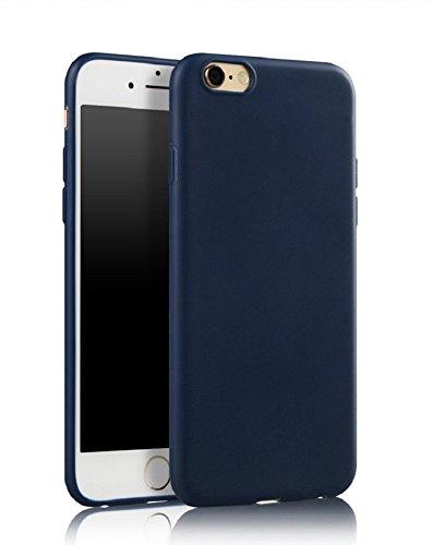 Demarkt Carcasa para iPhone 7 de silicona TPU azul oscuro