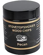 Naturligt trä rökare flisor rökning träpellets olika paket för camping fläsk fisk grillar grill picknick – hickory trä