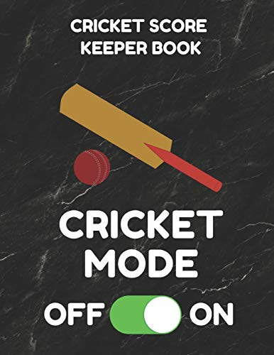 Cricket Score Keeper Book: Scorebook of 100 Score Sheet Pages for Cricket Games, 8.5 by 11 Inches, Funny Mode Black Cover