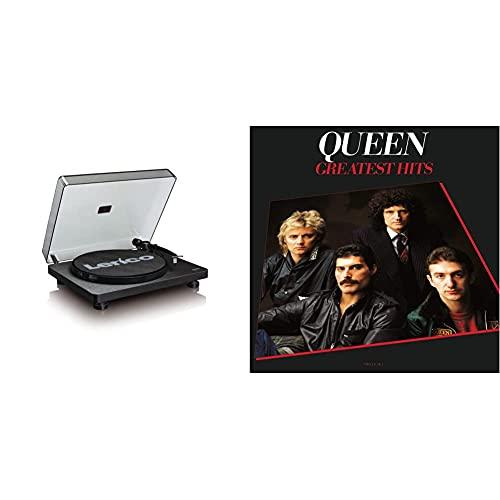 Lenco L-30Bk Giradischi Con Cartuccia Phonocartridge E Connessione Usb, Nero & Universal Music Queen Greatest Hits
