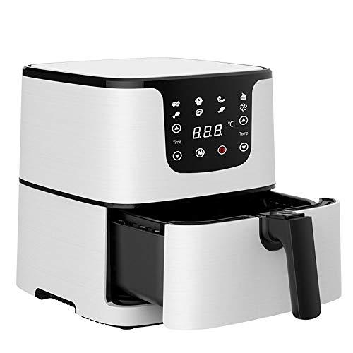 WSJTT Air Fryer, Grande Taille de la Famille électrique Hot Air friteuses XL Four Oilless Cooker, écran LCD Tactile numérique et antiadhésives Amovible Panier, 1700W (Blanc)