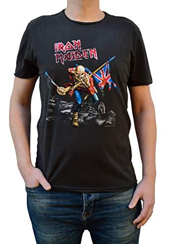 Amplified Iron Maiden 1980 Tour Charcoal - Maglietta Girocollo - Grigio - Large