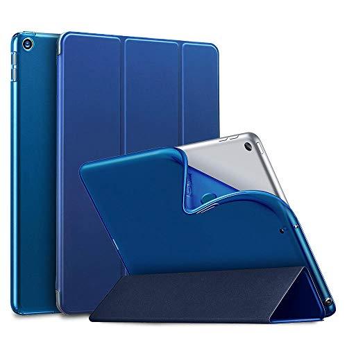 YYLKKB Funda para iPad Cover 2017 iPad Pro 10.5 para iPad Air 3 iPad 7th 2019 Soft TPU Auto Sleep/Wake Smart Case Funda con Soporte Triple-Azul_iPad Pro 11 2020
